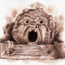 """View """"The Mouth of Hell (Bomarzo)"""""""